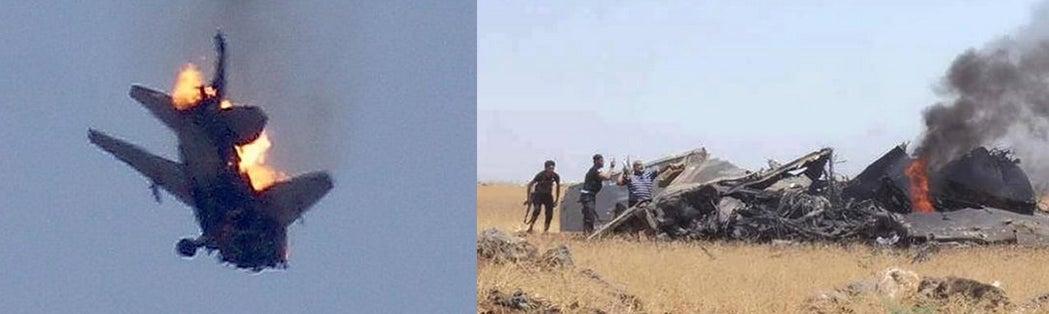Sukhoi 24 derribado en Siria 1292933843258137673
