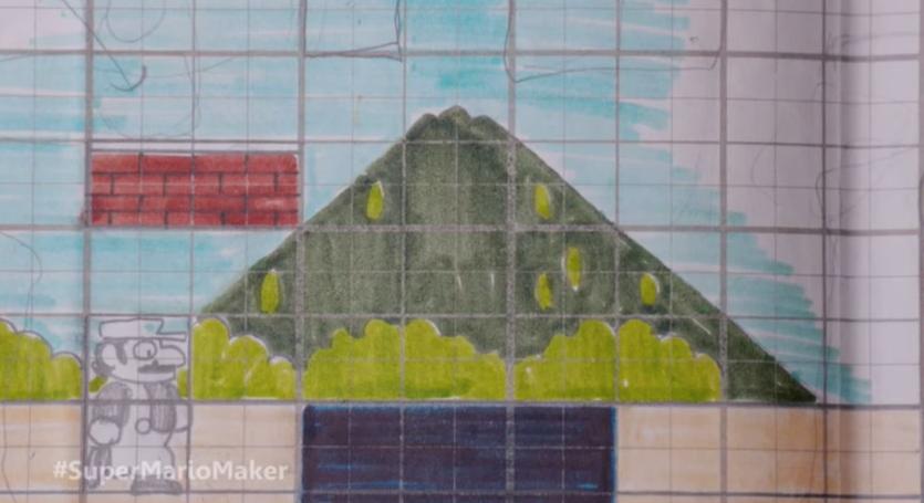 Así se diseñó sobre papel cuadriculado Super Mario