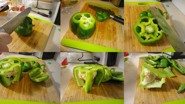 Quickly Cut a Bell Pepper by Skipping the Seeding
