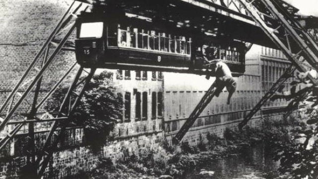 In 1950, an elephant fell out of a monorail in Germany