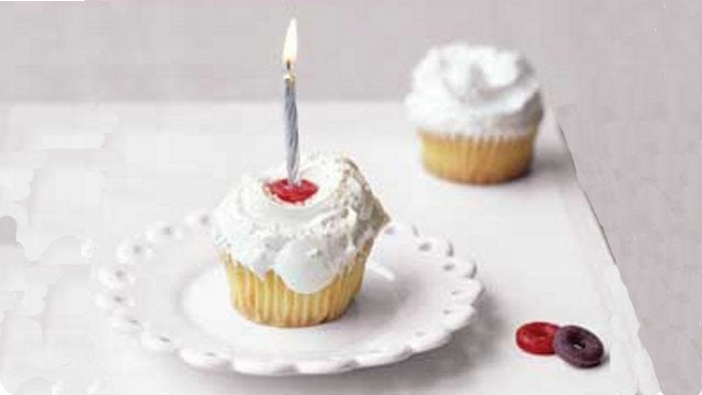 Repurpose LifeSavers as Birthday Cake Candle Holders