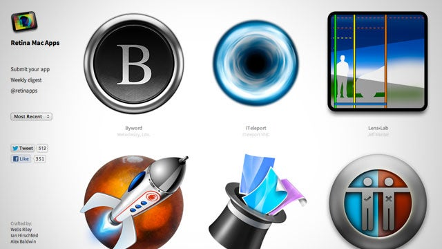 Retina Mac Apps Is an Always Up-To-Date Directory of Retina Display-Compatible Applications