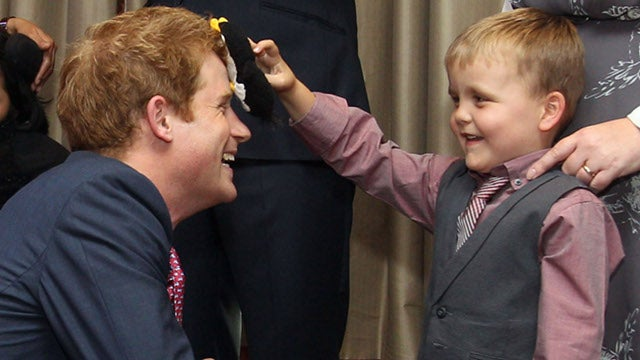 Prince Harry Wears Clothes to Charity Event