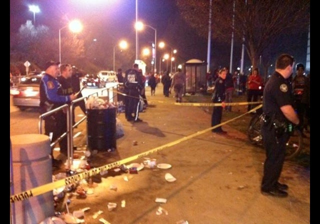 A Scuffle Between Falcons And 49ers Fans Outside The Georgia Dome Led To A Stabbing