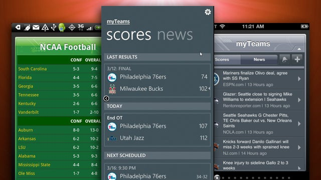 Most Popular Mobile Sports Tracker: ESPN Scorecenter