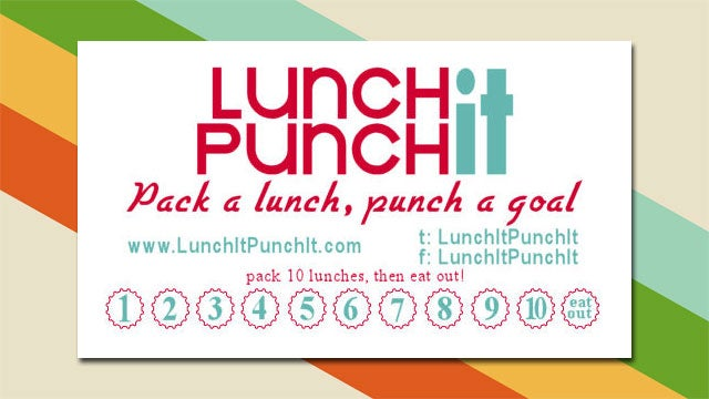 printable lunch it  punch it cards reward you for packing