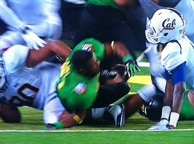 Oregon RB LaMichael James's Arm Bent A Way It's Not Supposed To Bend Tonight