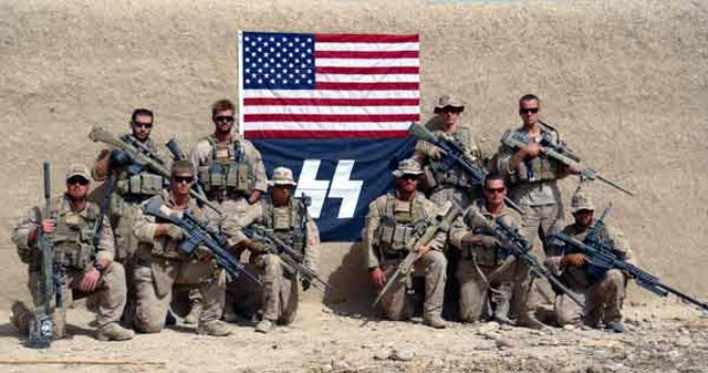 U.S. Marines Sorry for Posing with Nazi Flag, Nazi Rifle