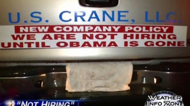 Patriotic Jackass Refuses To Hire Anyone Until Obama's No Longer President