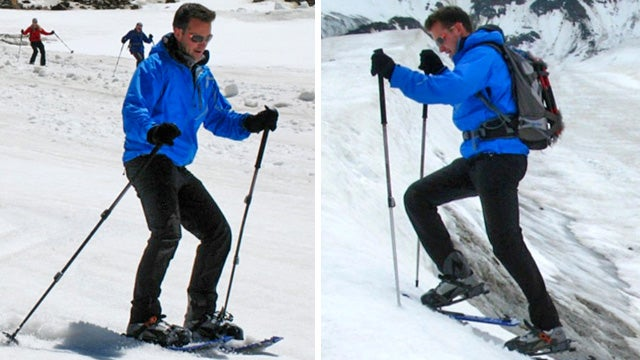 Hybrid Snowshoes Let You Climb a Mountain and Ski Back Down