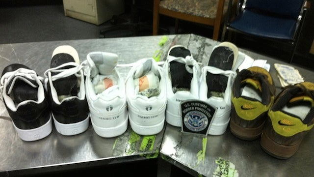 $107,000 Worth of Cocaine Found Hidden Inside Shoe Soles