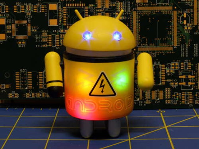 How to Hack an Android Figurine Into a Flashing Morse Code Transmitter