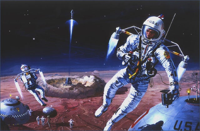Lunar Dreams: 40 Classic Moon Exploration Paintings