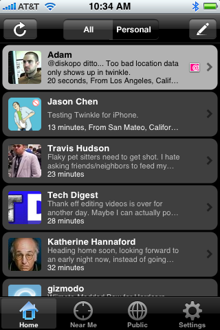 Twinkle, the iPhone Twitter Client, Adds Location Features