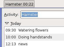 Hamster Adds Time Tracking to Your GNOME Panel
