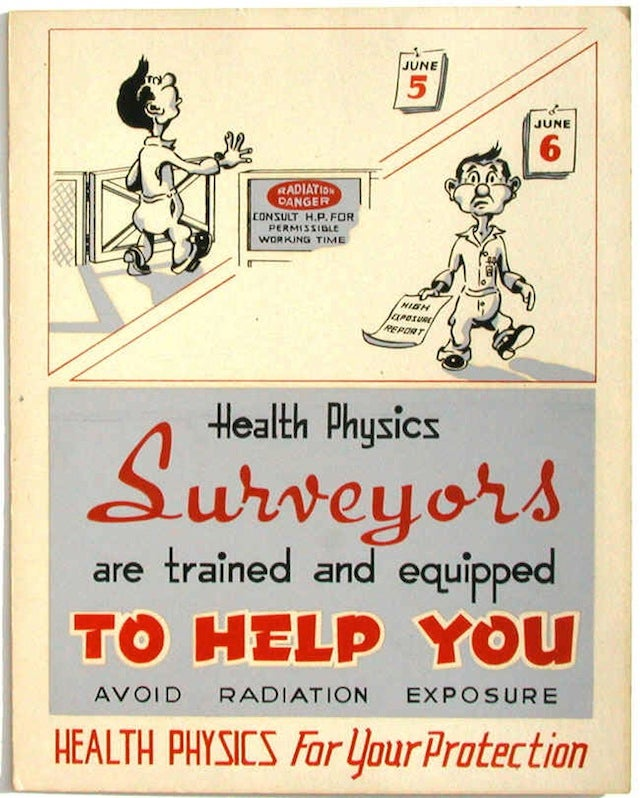 early nuclear safety posters are perky and disturbing. Black Bedroom Furniture Sets. Home Design Ideas