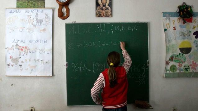 Girl Math Teacher Girls Outscore Boys on Math