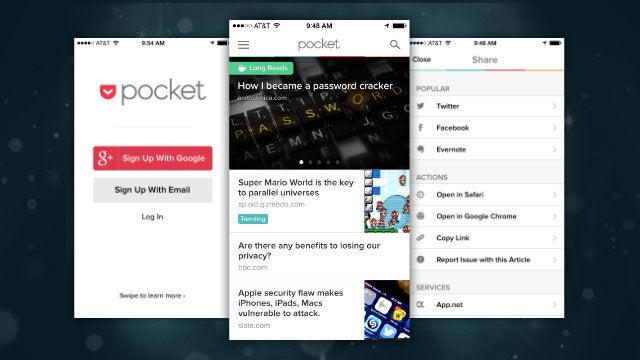 Pocket Adds Google Account Support, Offline Evernote Sharing, and More