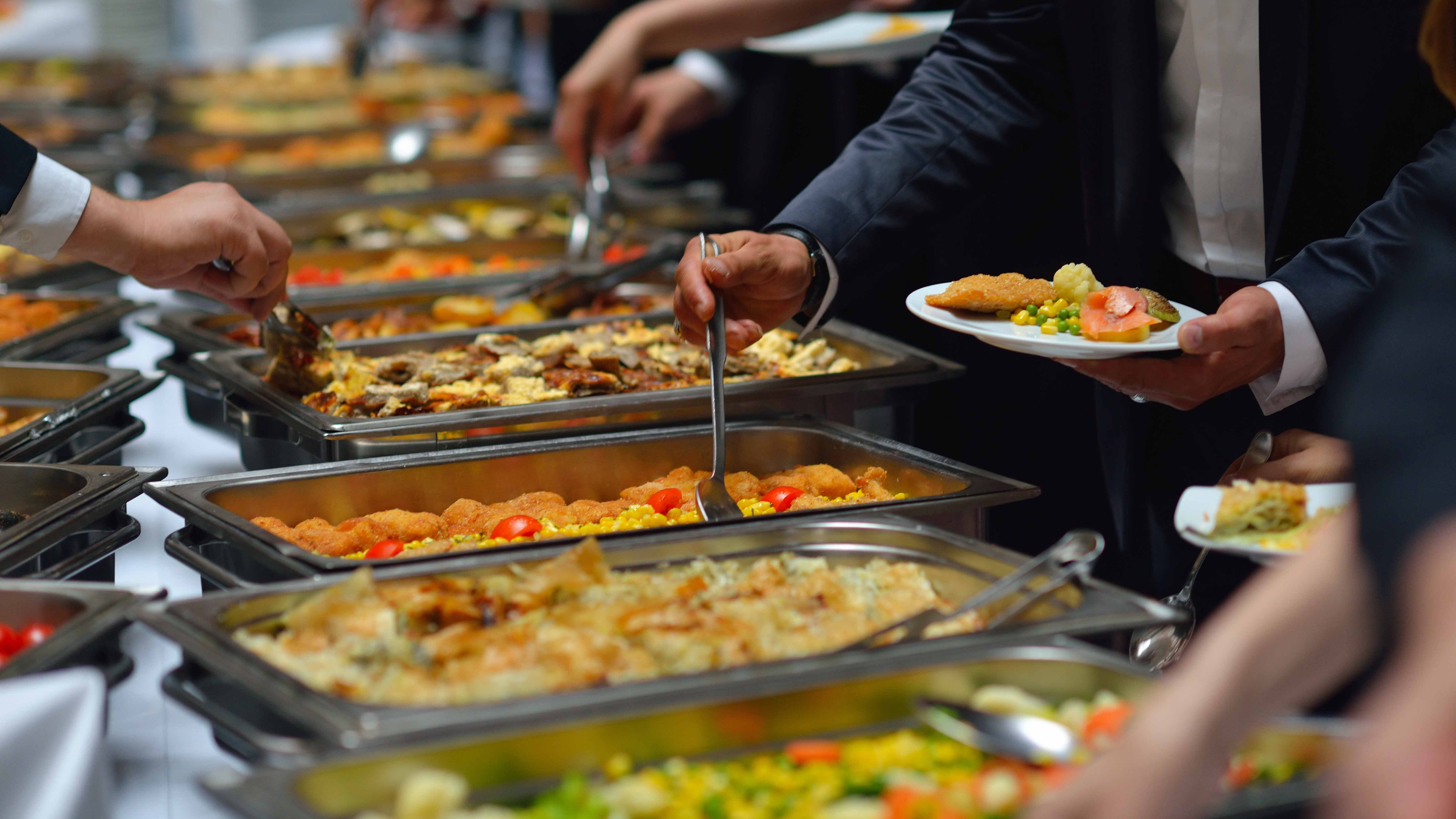 Buffet for African continental cuisine