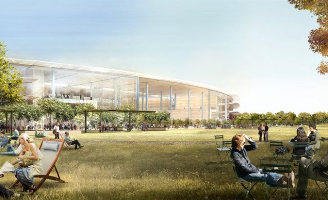 Norman Foster on Apple's HQ: Over 1,000 Bikes, Four-Story Glass Doors