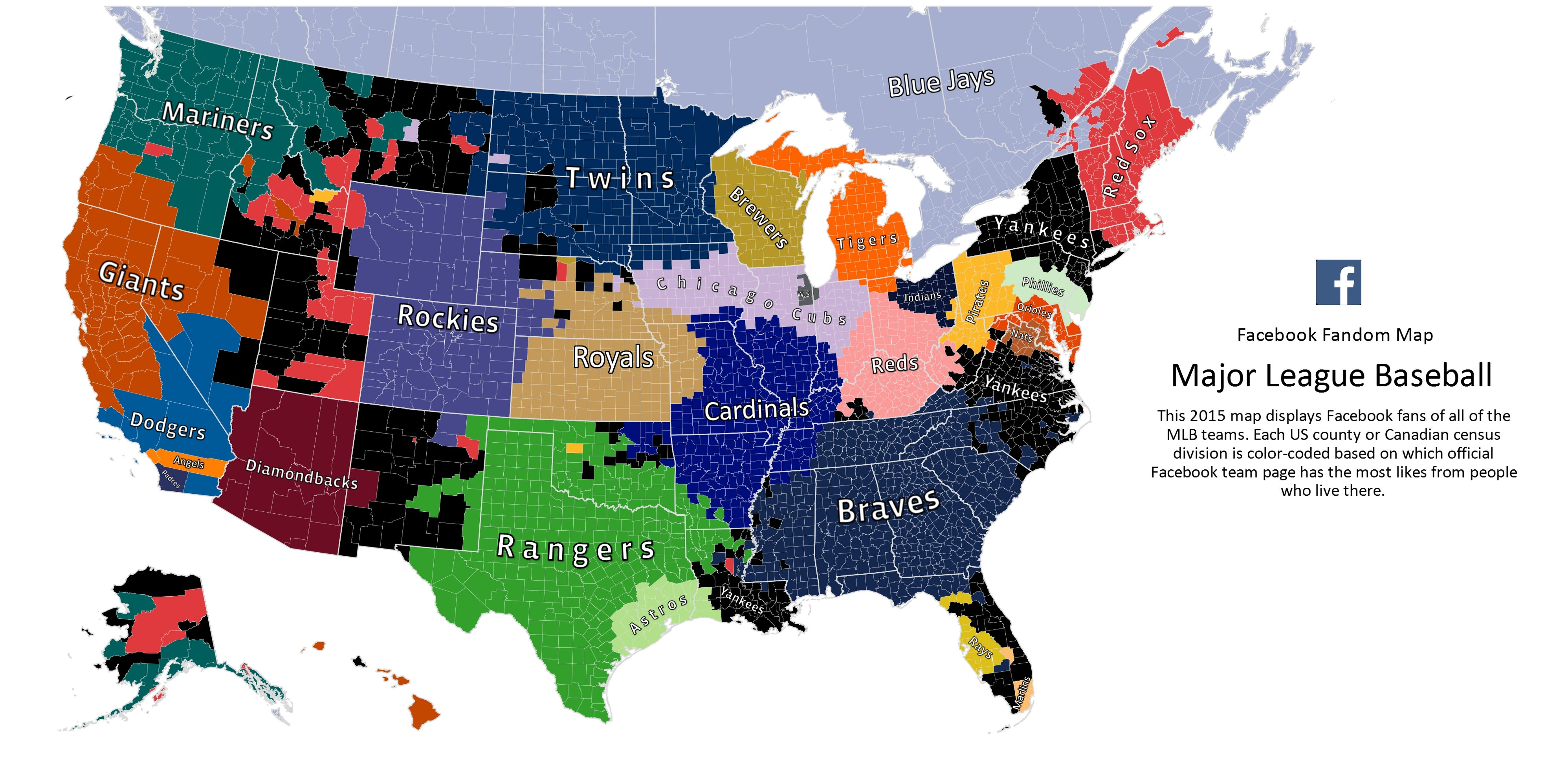 Worksheet. Heres Facebooks 2015 MLB Fandom Map
