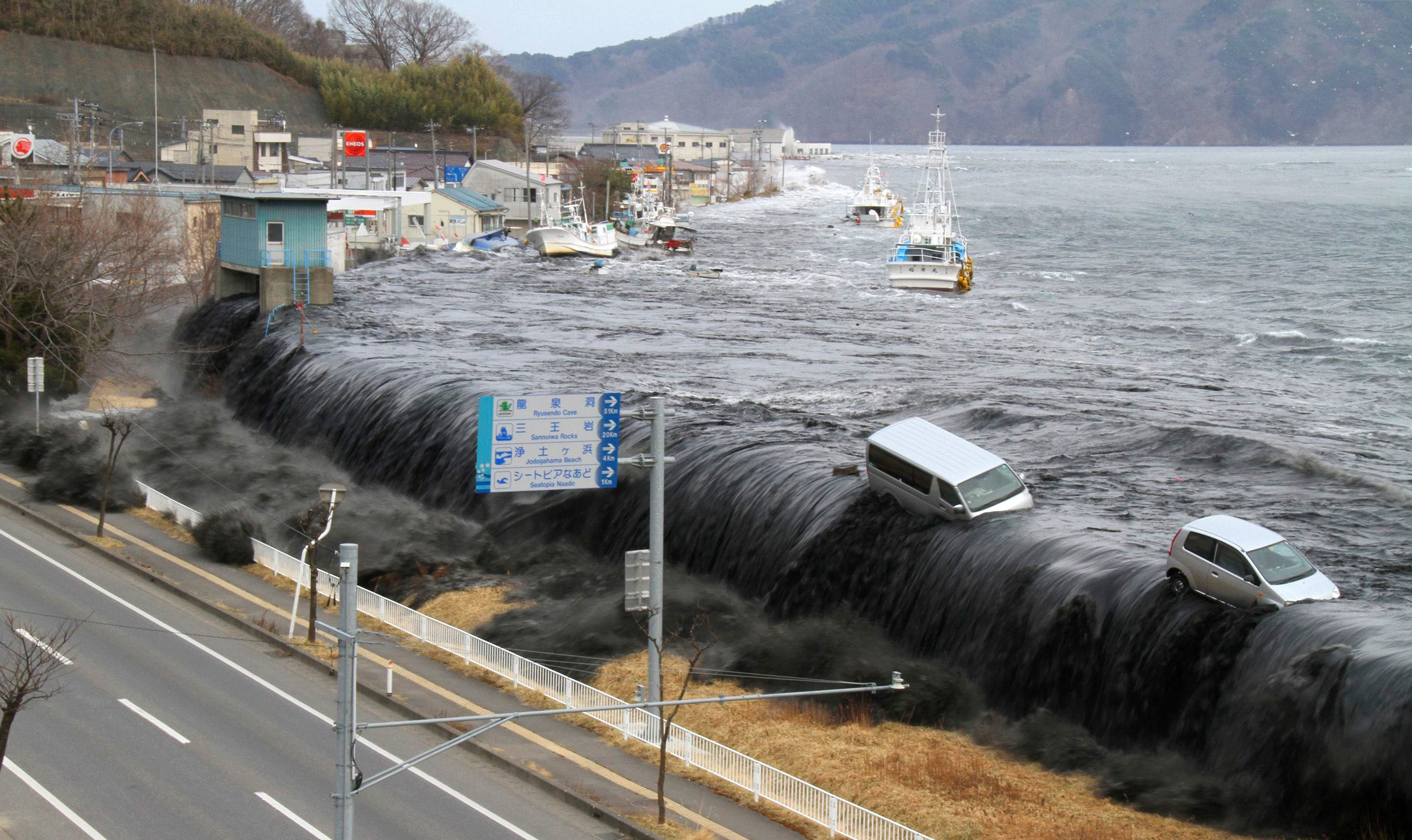 Tsunami Pictures Hit By A Massive Tsunami