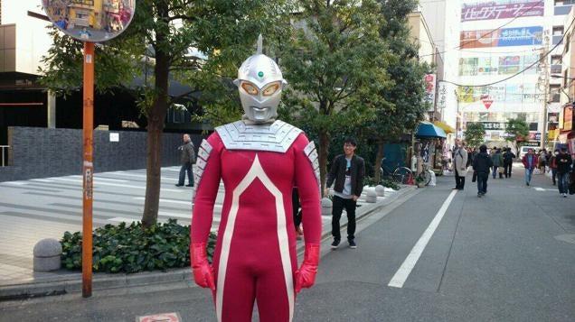Japanese Superheroes Costumes Police Stop Japanese Superhero