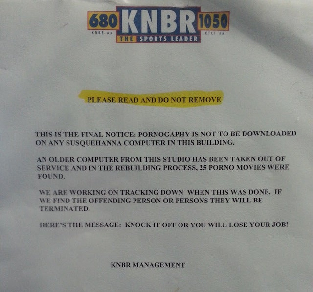 Which KNBR Employee Is Downloading Huge Amounts Of Porn At Work?