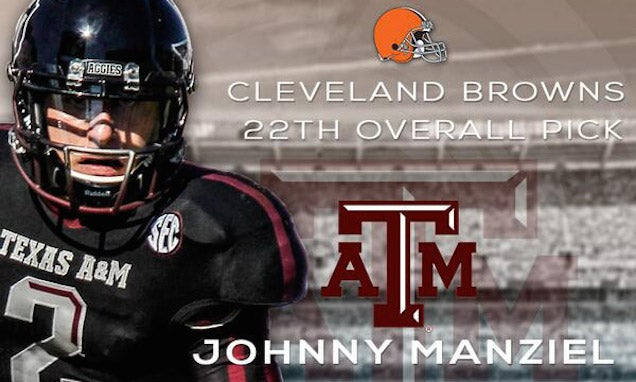 Browns Fuck Up Announcement Of Johnny Manziel Pick, Naturally