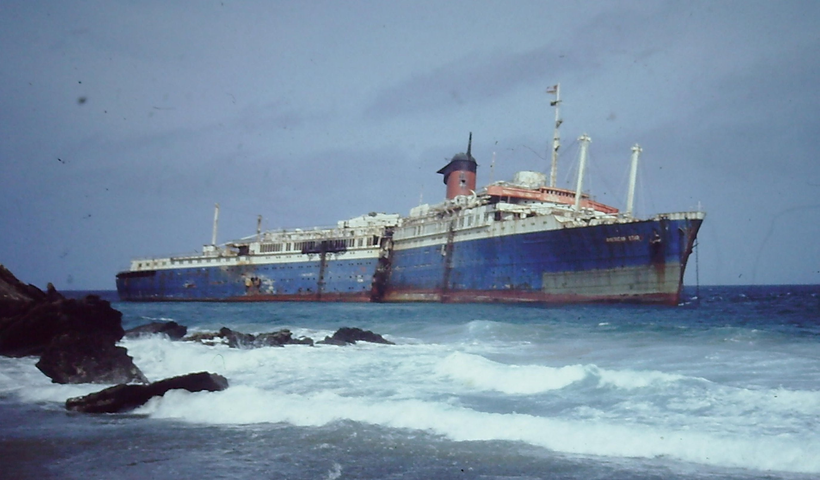 The Wreck Of The Ss America Lying Just Off The Coast Of