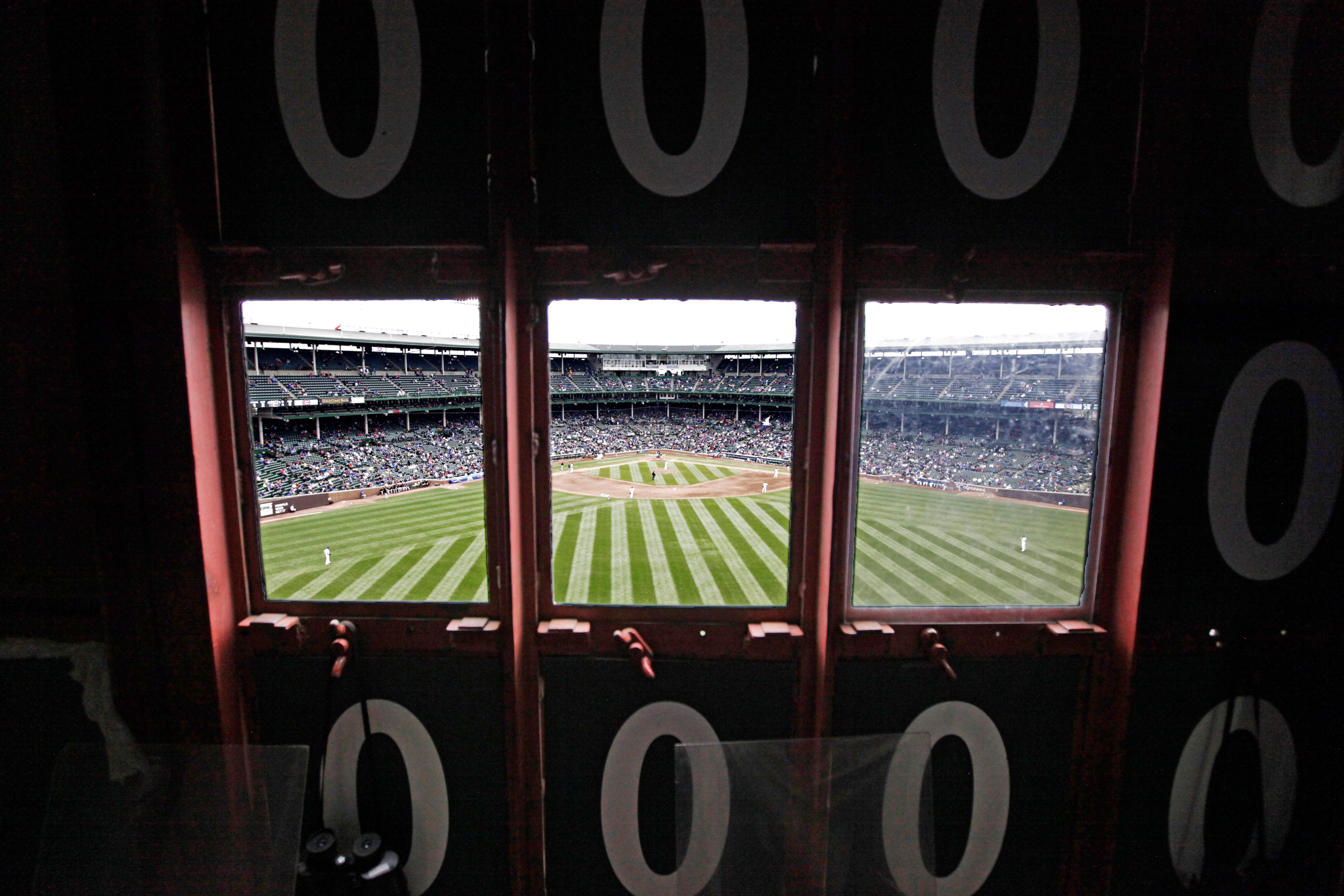 Rare Photos Of Wrigley's Scoreboard Mark Its 100th Anniversary
