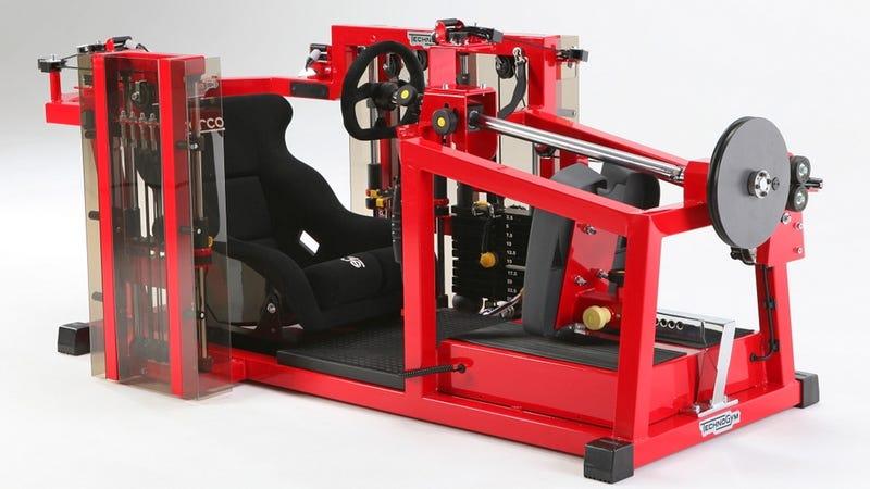 Así son las máquinas-coche donde entrenan pilotos de la F1