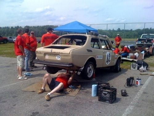 Never Give Up: The Saabs of the 24 Hours Of LeMons