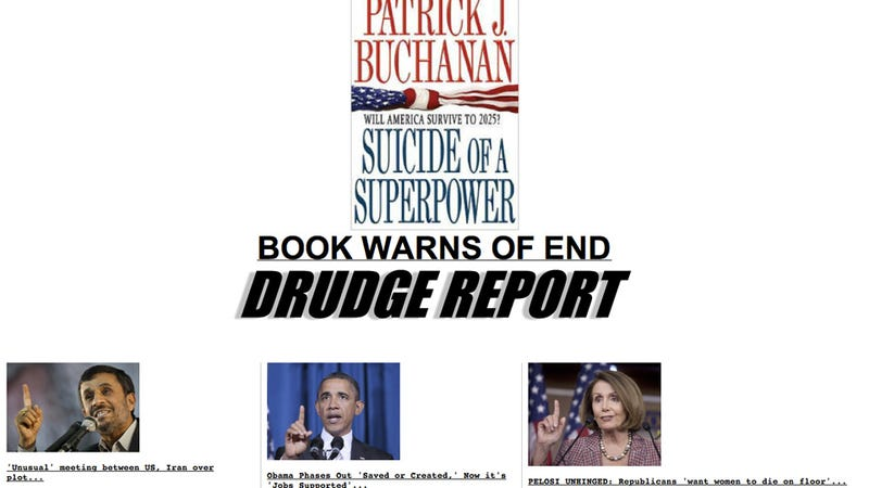 Matt Drudge Proves That Obama, Pelosi, and Ahmadinejad Are Plotting America's Destruction