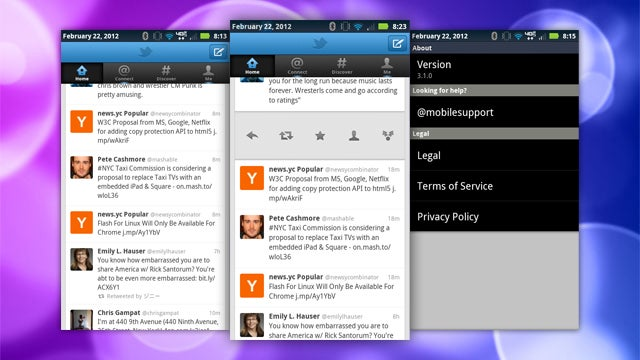 Twitter for iOS and Android Updates, Restores Swipe Gestures and Optimizes for Android Tablets