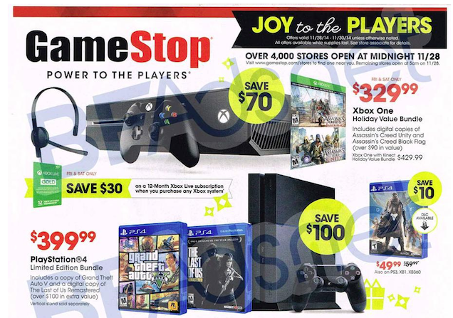 GameStop's 2014 Black Friday Deals Have Leaked