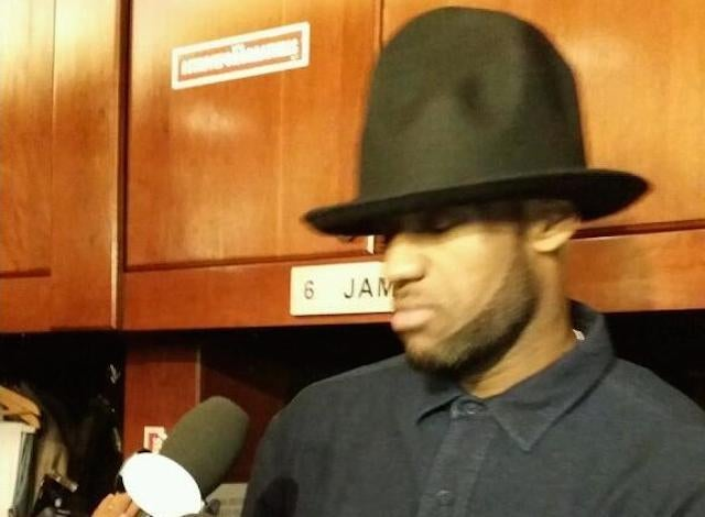 LeBron James Does Postgame Interview In Pharrell Hat