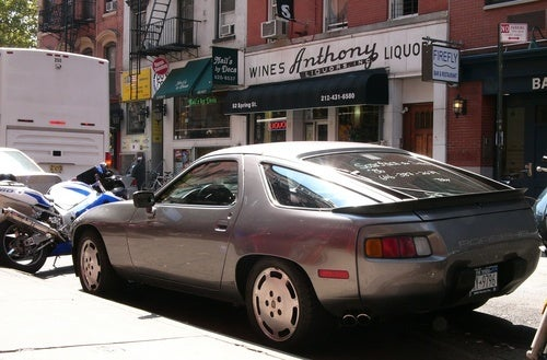 Porsche 928 in Soho, New York City