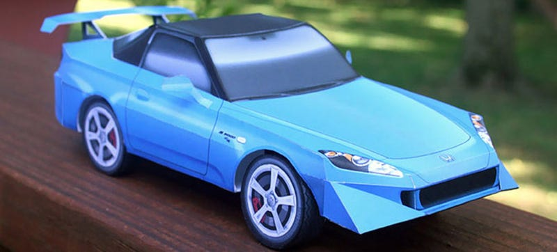 Build A Paper Honda S2000 Because Honda Won't Build Us A New One