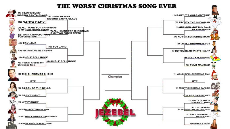 December Madness: The Tournament To Crown The Worst Christmas Song Ever Marches On