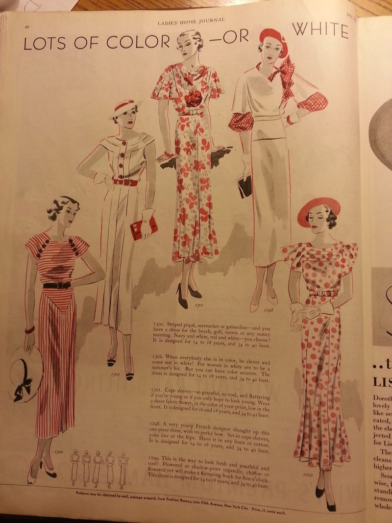 In the Ladies' Home Journal Archive--Fashion Outtakes!