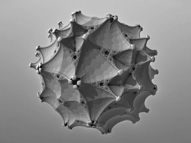 Growing Fractals Into Works of Art