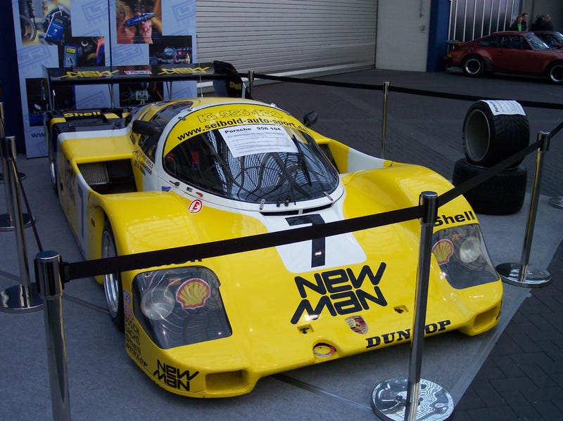 The Yellow and Green Helmet in a Porsche 956