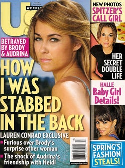 This Week In Tabloids: Suri's Missing, LC's Been Stabbed, Jennifer Aniston Is Thin