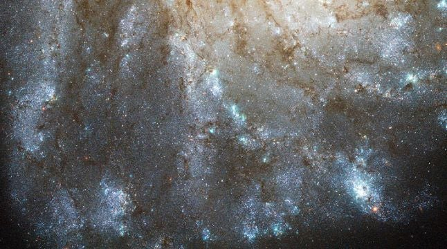 There's a mysterious glow in this galaxy