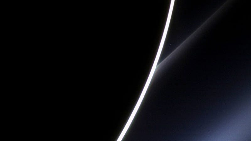 Here is a gorgeous view of Venus . . . from Saturn