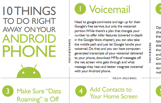 Free Print-and-Fold Guide Offers 10 Tips for First-Time Android Owners