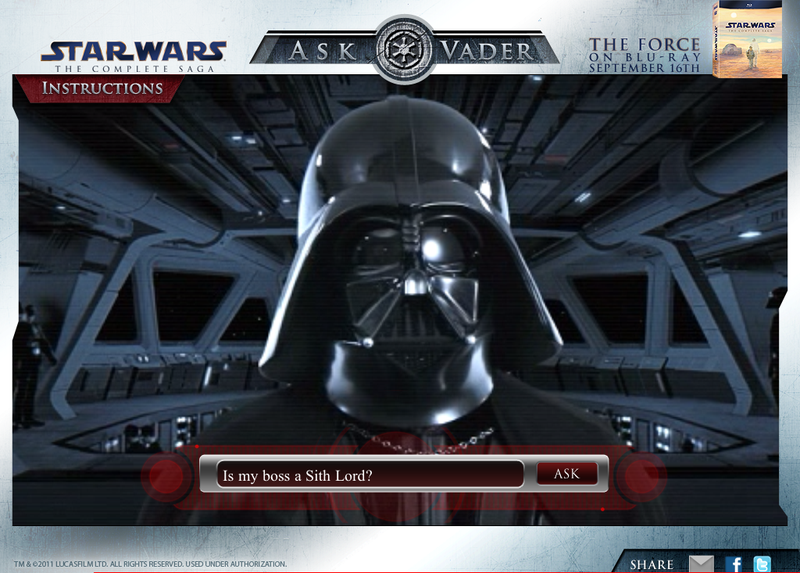 """Ask Vader"" anything you want!"
