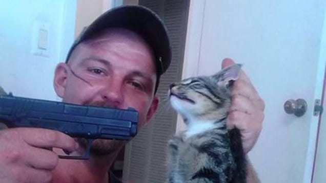 Man Holding Gun Down Florida Man Holds Gun to Cat's