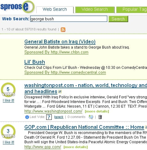 Social Search Engine Sproose Final Now Live